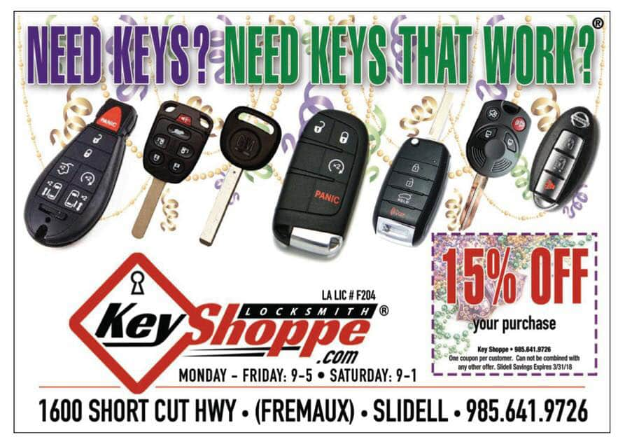 15% Off Locksmith Services from Key Shoppe